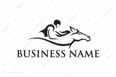 Logo for sale: Horse Riding Logo Stylish horse riding logo for equestrian business or rider club. horse racing competition race equine horseback horseman jockey equestrienne racehorse farm training lesson logo logos