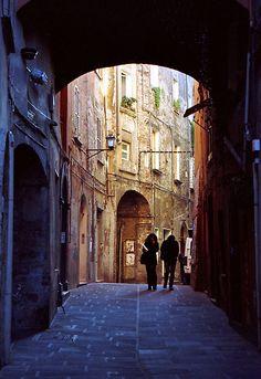 """""""Strolling, Perugia"""" by Tiffany Dryburgh"""