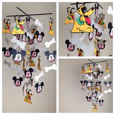 Mikey & Pluto Disney inspired Mobile on Etsy, $75.00
