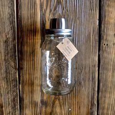 Mason jar cocktail shaker top.