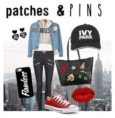 """Rebel Patch"" by trillita on Polyvore featuring Georgia Perry, Anya Hindmarch, Converse, Karl Lagerfeld, Ivy Park, Winky Lux and patchesandpins"