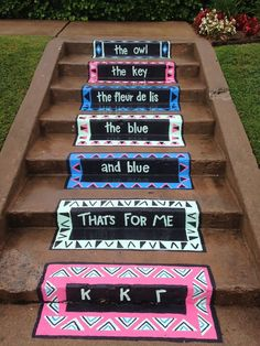 These amazing steps belong to the ladies of the Delta Pi Chapter at The University of Tulsa. #KKG