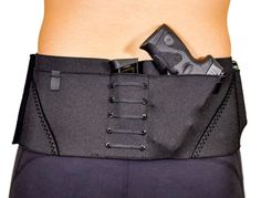 The Sport Belt Concealed Carry Gun Holster for Ladies and Guys; Black with Stealth Concealed Carry Women, Concealed Carry Holsters, Gun Holster, Jogging, Gym Shorts, Black Belt, Carry On, How To Wear, Clothing Styles