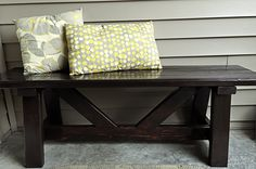 Providence Bench for my Front Porch - cost (Easy. Furniture Projects, Home Projects, Diy Furniture, Do It Yourself Furniture, Do It Yourself Home, Front Porch Bench, Entry Bench, Front Entry, Door Bench