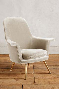 Slide View: 1: Velvet Kimball Chair