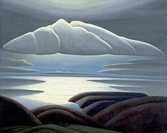 Lawren Harris, Clouds, Lake Superior, 1923 Lawren Harris was a member of the Group of Seven, a group of artists who sought uniquely Canadian expressions through landscape painting. Tom Thomson, Emily Carr, Group Of Seven Artists, Group Of Seven Paintings, Winnipeg Art Gallery, Art Gallery Of Ontario, Canadian Painters, Canadian Artists, Landscape Art