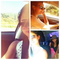 "Selena is @postcarding ""road trip... :)"""