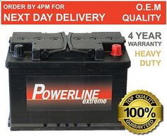 096 / 067 #powerline car #battery 12v 72ah 670a - 4 year wty - alfa #romeo audi e, View more on the LINK: www.zeppy.io/...