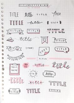 bullet journal | Tumblr. Wow. Lots of ideas about lots of different things for your BuJo.