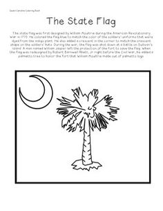 South Carolina Symbols Coloring Book FlagColor PicturesAdult