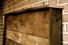 Upcycled Barn Wood Headboard. via Etsy.