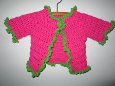 Baby Girl Pink Sweater Crocheted by SuzannesStitches, Baby Girl Pink Sweater, Pink Baby Girl Sweater, Baby Girl Cardigan, Crochet Sweater by SuzannesStitches on Etsy