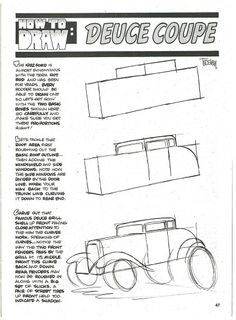 George Trosley - How to draw: Deuce Coupe 1/2
