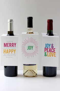 Fantastic free printable wine gift tags for holiday giving. Grea design! | Alice and Lois