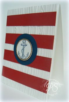 Going a little nautical today! stampsnsmiles.blogspot.com