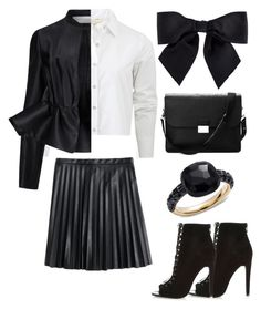 """monochrome feeling"" by isabell-carrero on Polyvore featuring rag & bone, J.Crew, River Island, Chanel, Pomellato, Aspinal of London and Victoria, Victoria Beckham"