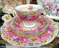 Royal Albert Tea Cup and Saucer Trio Serena Pink Roses