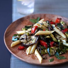 Grilled-Vegetable Pasta with Cumin paired with Saint Clair Sauvignon Blanc Marlborough 2014