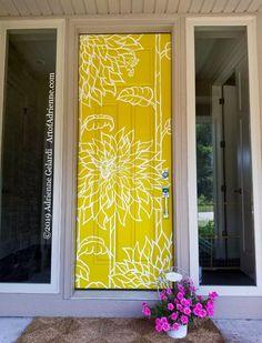 Painted Bedroom Doors, Painted Doors, Exterior House Colors, Exterior Doors, Exterior Design, Mural Painting, Painting Furniture, Paintings, Porch Doors