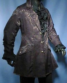 Brocade Larp Frock coat #mens #guys #goth #gothic #steampunk #Victorian