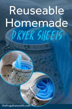 Save money on your laundry bill each month by making these easy homemade dryer sheets. Never spend money on them again and they are reusable. Homemade Cleaning Supplies, Household Cleaning Tips, Cleaning Hacks, Household Products, Diy Hacks, Homemade Dryer Sheets, Saving Money, Saving Tips, Money Savers