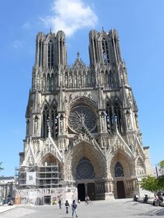 Reims Cathedral Reims Cathedral, France Vacations, Barcelona Cathedral, Places, Travel, Bonjour, Viajes, Destinations, Traveling