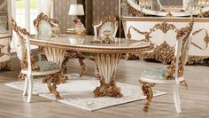 Baroque Furniture, Luxury Dining Room, Living Room Furniture, Dining Table, Bb, Home Decor, Hall Furniture, Decoration Home, Room Decor