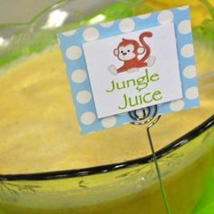Banana Brunch Punch and other fun theme food (Jurassic Juice or Prehistoric punch for dino party??)