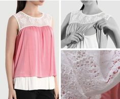 Elegant nursing sleeveless shirt. No instructions but looks easy enough.