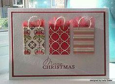 Shopping bag card
