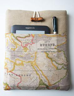 13 inch World Map Prin Macbook Cover Custom by HandmadeBerlin