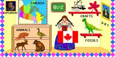 Week 21 - Canadian Explorers  Enchanted Learning: Canada Zoom School Teach English To Kids, Teaching English, Teacher Resources, Teaching Ideas, Enchanted Learning, Geography Lessons, Thematic Units, Teaching Social Studies, Study Ideas