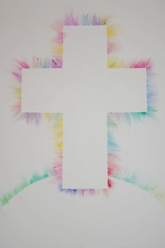 Easter craft using oil pastels
