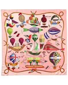 "Luxury Accessories:Accessories, Hermes Green & White ""Les Folies du Ciel,"" by Loic DubigeonSilk Scarf . Scarf Storage, Minimalist Bag, Silk Scarves, Hermes Scarves, Designer Scarves, Scarf Design, Vintage Scarf, Boutique, Ciel"