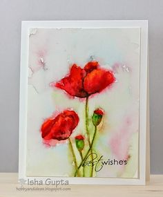Hello and happy Monday!!! So here is another card for you using a no-line watercolor technique. I used the new Penny Black stamp(Blooming Ga...