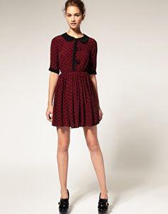 ASOS Cute Spot Dress with Contrast Collar  $73.18