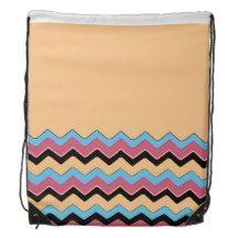 Chevron Pattern Backpacks