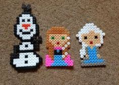 Anna, Elsa and Olaf perler beads