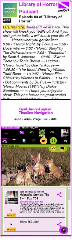 """#LITERATURE #PODCAST  Library of Horror Podcast    Episode #3 of """"Library of Horror""""    LISTEN...  http://podDVR.COM/?c=8c722a27-0374-75ea-51cb-bb430717476f"""