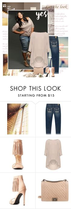 """""""My story is epic"""" by mcheffer ❤ liked on Polyvore featuring Rhythm in Blues, Privileged, Mat, Chanel, GetTheLook, fringe, capri, plussize and plussizefashion"""