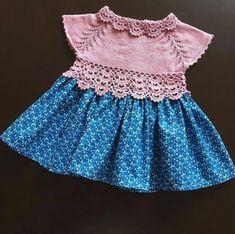 Baby Girl Dresses, Baby Dress, Baby Cardigan, Baby Crafts, Baby Knitting Patterns, Boho Shorts, Girl Fashion, Creations, Etsy