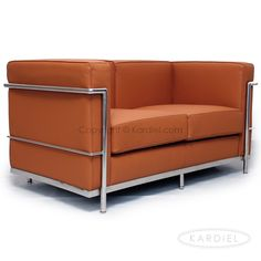 Le Corbusier Style LC2 Loveseat, Luxe Camel Standard Leather |