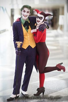 The Joker and Harley Quinn Cosplayed by Harley's Joker, photographed by Subversive Photography
