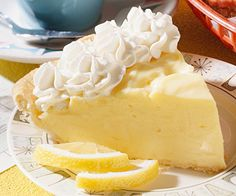 Lemon-Cream Cheese Pie    This creamy lemon pie is a signature dessert at Al's Oasis, a family restaurant along the east bank of the Missouri River in Chamberlain, South Dakota. The original is rather devine!!