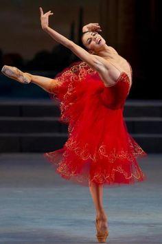 Natalia Osipova in Don Quixote at the Mikhailovsky Theatre - Photo by Stas Levshin