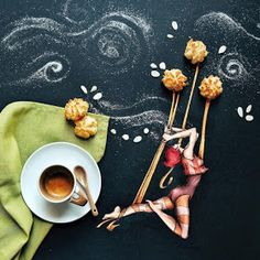 And I must be an Acrobat -The Coffee and Illustrations by Cinzia Bolognesi