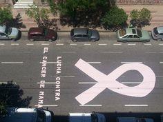 Street marketing para concientizar sobre el cáncer de mama