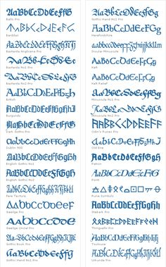 Elegant Mediæval Fonts - Fonts and Font Tools Software - Modern Calligraphy Alphabet, Tattoo Fonts Alphabet, Handwriting Alphabet, Hand Lettering Alphabet, Calligraphy Handwriting, Learn Calligraphy, Calligraphy Letters, Penmanship, Islamic Calligraphy