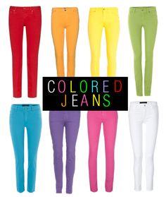 Coloured Jean Rainbow