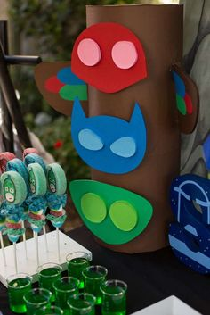 's Birthday / PJ Masks - Photo Gallery at Catch My Party Pjmask Party, Party Fiesta, Festa Party, Party Time, 5th Birthday Party Ideas, Fourth Birthday, Birthday Fun, Festa Pj Masks, Birthdays